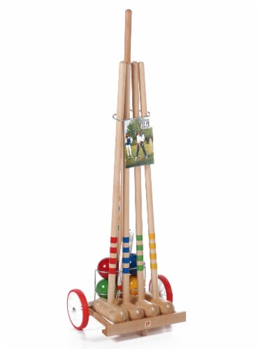 Londero 4 Player Croquet with Trolley Perspective: front