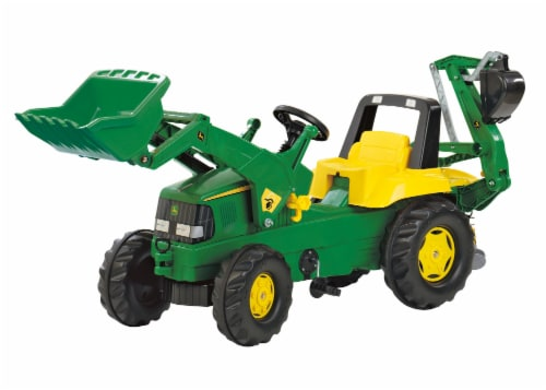 KETTLER John Deere Backhoe Loader - Green/Yellow Perspective: front