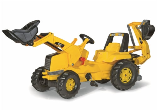 KETTLER Caterpillar Backhoe Tractor - Yellow Perspective: front
