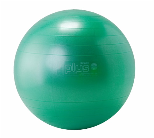 Gymnic Plus 22 Inch Fitness Ball - Green Perspective: front