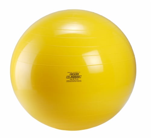 Gymnic Classic 30 Inch Fitness Ball - Yellow Perspective: front