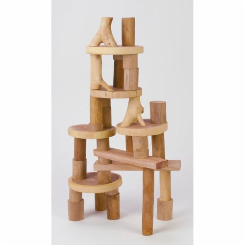 Tree Blocks TB35 Smooth Wooden Blocks - 36 Piece Perspective: front