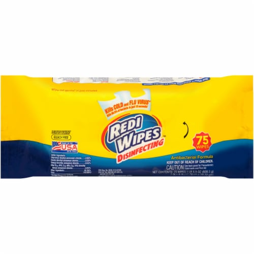 Redi Wipes Lemon Disinfecting Wipes Perspective: front