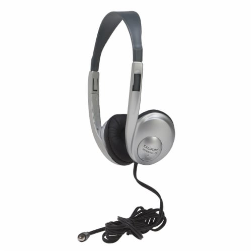 Multimedia Stereo Headphone, Silver Perspective: front