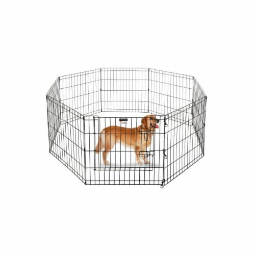 Pet Trex 83-DT5297 2305 Playpen for Dogs Eight High Panels - 24 in. Perspective: front