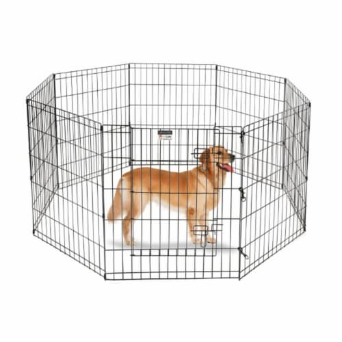 Pet Trex 83-DT5298 2306 Playpen for Dogs Eight High Panels - 30 in. Perspective: front