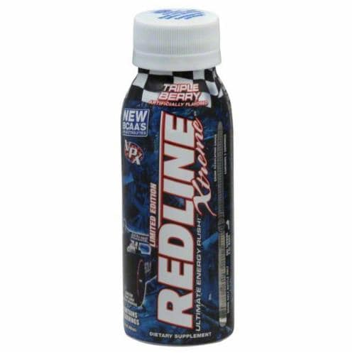 Redline Xtreme Triple Berry Energy Drink Perspective: front