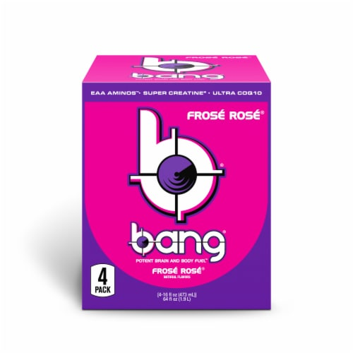 Bang Frosé Rosé Energy Drink Perspective: front