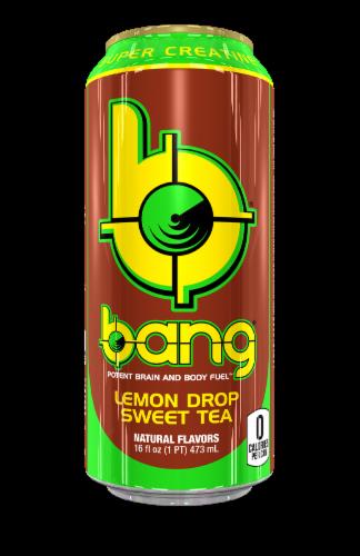 Bang Lemon Drop Sweet Tea Energy Drink Perspective: front