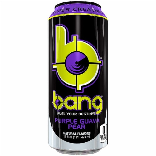 Bang Purple Guava Pear Energy Drink Perspective: front