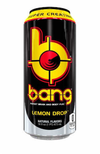 Bang Lemon Drop Energy Drink Perspective: front
