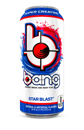Bang® Star Blast® Energy Drink Perspective: front