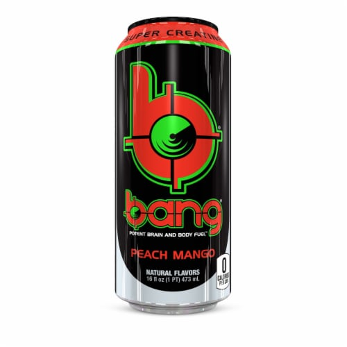 Bang Peach Mango Energy Drink Perspective: front