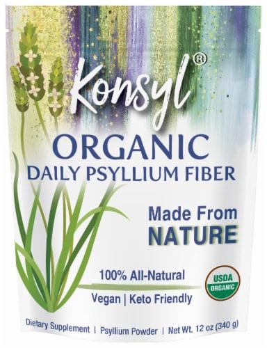 Konsyl Organic Daily Psyllium Fiber Powder Perspective: front