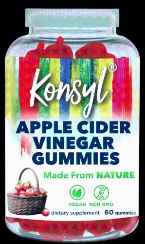 Konsyl Apple Cider Vinegar Gummies Perspective: front