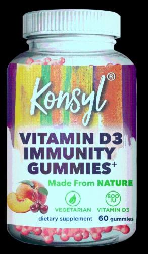 Konsyl Vitamin D3 Immunity Gummies Perspective: front