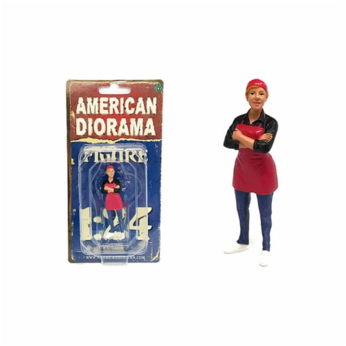 American Diorama 38442 Food Truck Chef Gloria Figure for 1-24 Scale Model Perspective: front