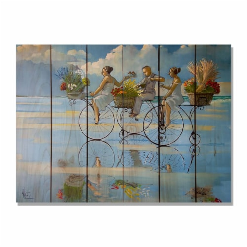 Day Dream HQ RWBWB3324 33 x 24 in. Wests Big Wheel Beach Inside & Outside Cedar Wall Art Perspective: front