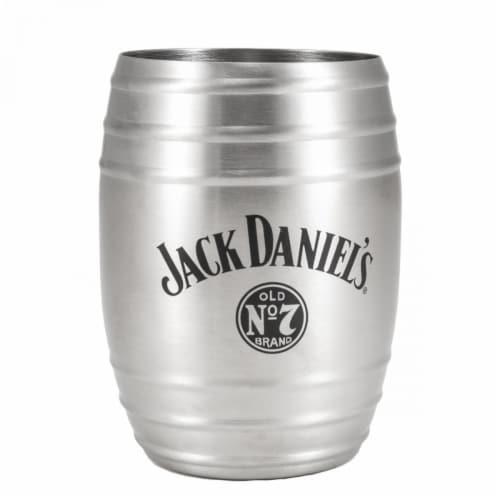 Jack Daniels 803078 Jack Daniels Metal Barrel Cup - 14 oz Perspective: front