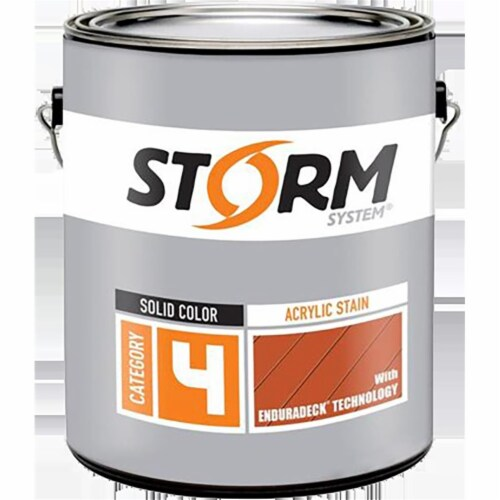 Storm 41893-4 1 qt. Cat4 Solid Color Acrylic Stain Enduradeck - Deep Base Perspective: front