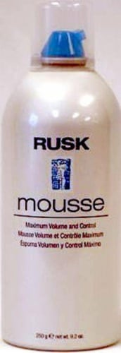 Rusk Maximum Volume and Control Mousse Perspective: front