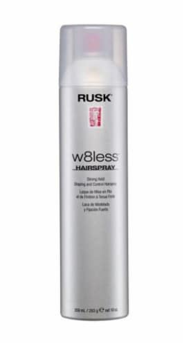 Rusk W8less Strong Hold Hairspray Perspective: front