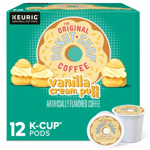 The Original Donut Shop Vanilla Cream Puff Coffee K-Cup Pods Perspective: front