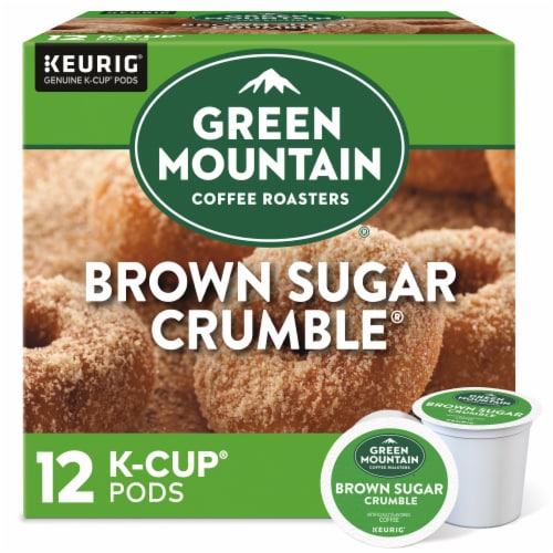 Green Mountain Coffee Brown Sugar Crumble Donut Flavored Coffee K-Cup Pods Perspective: front