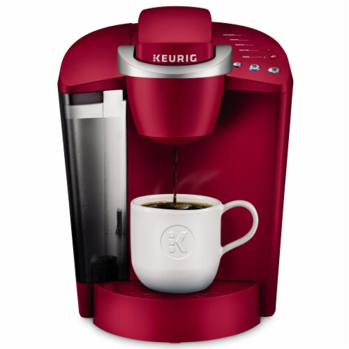 Keurig® K-Classic Single Serve Coffee Brewer - Rhubarb/Silver Perspective: front