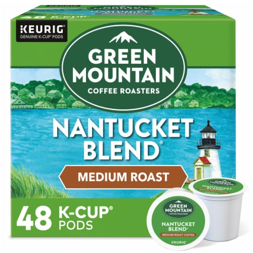 Green Mountain Coffee Roasters Nantucket Blend Medium Roast Coffee K-Cup Pods Perspective: front