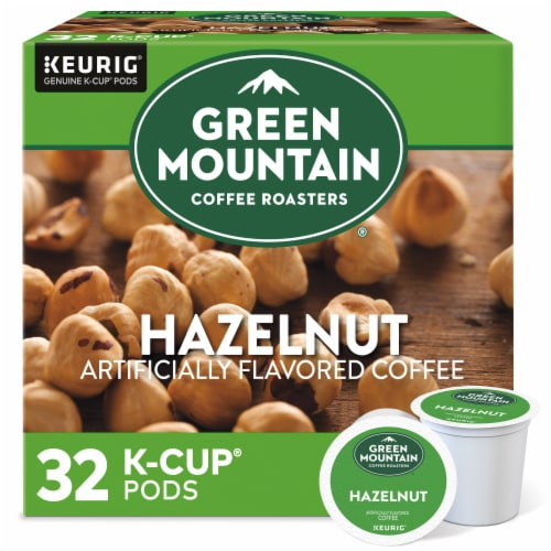 Green Mountain Coffee Roasters Hazelnut Coffee K-Cup Pods Perspective: front