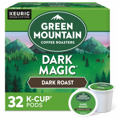 Green Mountain Coffee Dark Magic Dark Roast K-Cup Pods Perspective: front