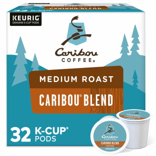 Caribou Coffee Caribou Blend Medium Roast Coffee K-Cup Pods Value Pack Perspective: front