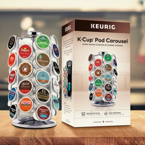 Keurig® K-Cup Pod Carousel - Silver Perspective: front
