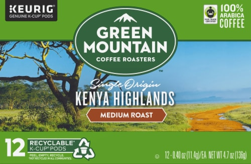 Green Mountain Coffee Roasters Kenya Highlands Medium Roast K-Cup Pods Perspective: front