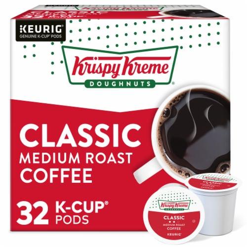 Krispy Kreme Classic Medium Roast Coffee K-Cup Pods Perspective: front