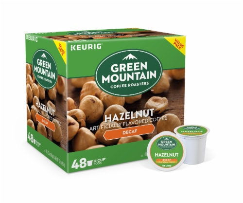 Green Mountain Hazelnut Flavored Decaf Coffee K-Cup Pods Perspective: front