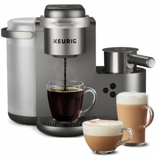 Keurig® K-Café Single Serve Coffee Latte and Cappuccino Maker - Nickel Perspective: front