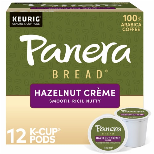 Panera Bread at Home Hazelnut Creme Coffee K-Cup Pods Perspective: front