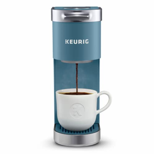 Keurig® Mini Plus Coffee Maker - Evening Teal Perspective: front