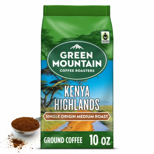 Green Mountain Coffee Roasters Kenya Highlands Medium Roast Ground Coffee Perspective: front