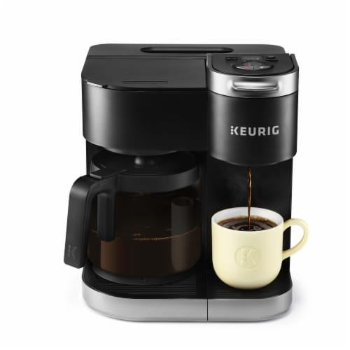 Keurig® K-Duo Single Serve & Carafe Coffee Maker - Black Perspective: front