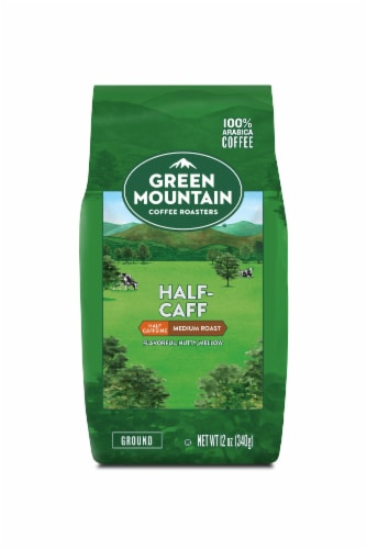 Green Mountain Coffee Half Caff Ground Coffee Perspective: front