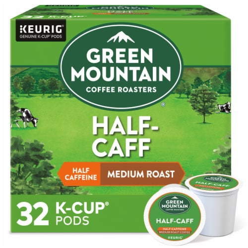 Green Mountain Coffee Half-Caff Medium Roast K-Cup Pods Perspective: front