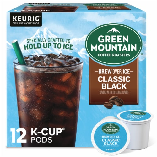 Green Mountain Coffee® Brew Over Ice Classic Black K-CupPods Perspective: front