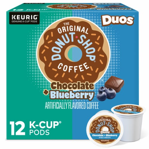 The Original Donut Shop® Duos™ Chocolate + Blueberry Coffee K-Cup Pods Perspective: front