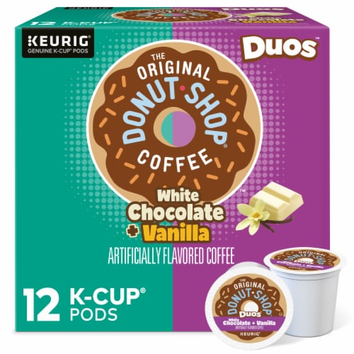 The Original Donut Shop Dous White Chocolate Vanilla K-Cup Pods Perspective: front