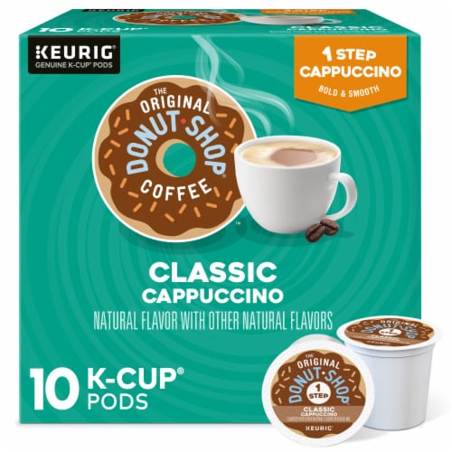 The Original Donut Shop One Step Classic Cappucino K-Cup Pods Perspective: front