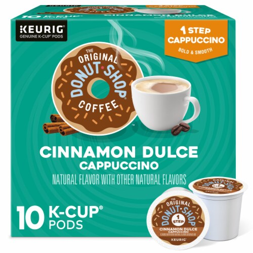 The Original Donut Shop Cinnamon Dulce Cappucino K-Cup Pods Perspective: front