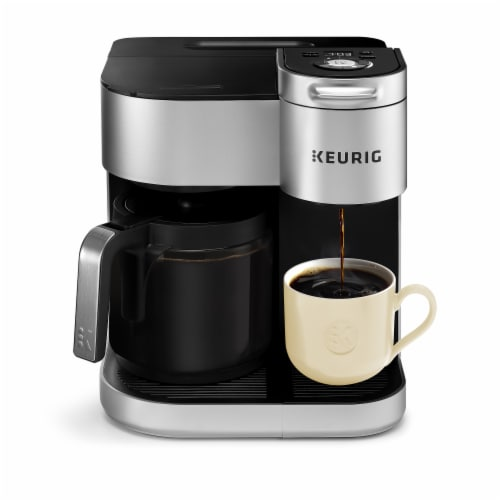 Keurig® K-Duo Special Edition Single Serve K-Cup Pod & Carafe Coffee Maker - Silver Perspective: front